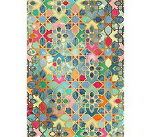 Gilt & Glory - Colorful Moroccan Mosaic Photographic Print