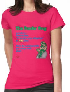 """Ponder Frog """"Free?"""" Womens Fitted T-Shirt"""