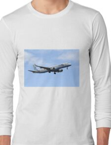 Flybe regional airline company Embraer 195 Long Sleeve T-Shirt