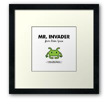 Mr. Invader Framed Print