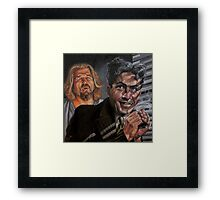 You're Bogartin' the F'in' Joint, Man! Framed Print