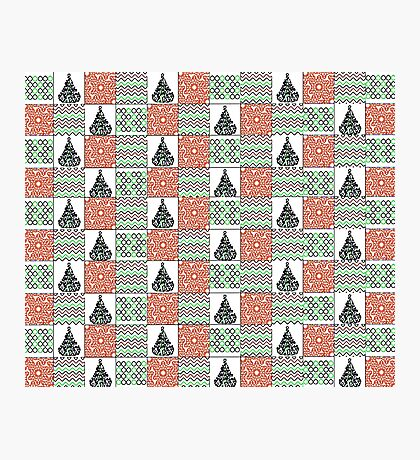 Christmas Patchwork Photographic Print