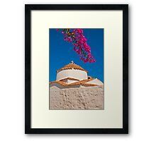 Chora, Patmos, Dodecanese Islands Framed Print