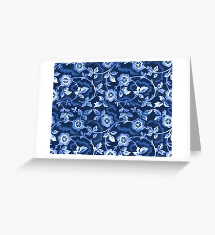 Blue floral pattern Greeting Card