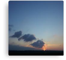Volcanic Sunset Canvas Print
