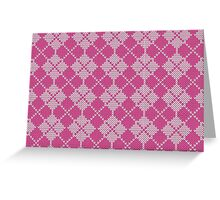 Stockinette Fair Isle Pattern - Pink Greeting Card
