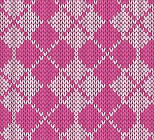Stockinette Fair Isle Pattern - Pink by ImpyImp