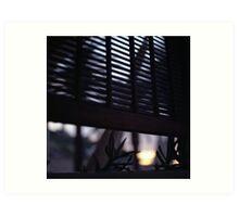 Beach house window at dawn Ibiza Spain square Hasselblad medium format film analog photographer Art Print