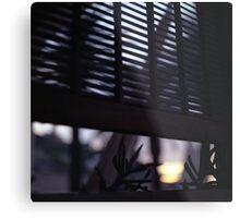 Beach house window at dawn Ibiza Spain square Hasselblad medium format film analog photographer Metal Print