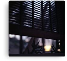 Beach house window at dawn Ibiza Spain square Hasselblad medium format film analog photographer Canvas Print
