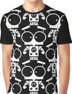 Cute Robot 8 White Graphic T-Shirt