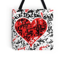 Red hart - Valentines day design Tote Bag