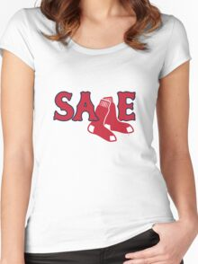 Chris Sale Red Sox Shirt Women's Fitted Scoop T-Shirt