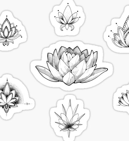 Lotus Stickers - SET (7) Sticker