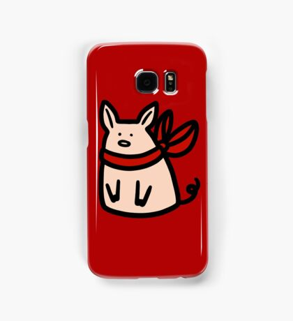 Red Ribbon Piggy Samsung Galaxy Case/Skin
