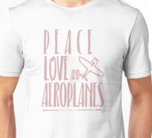 Peace Love Aeroplanes Unisex T-Shirt