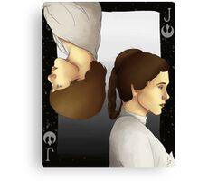 Luke and Leia Playing Card Canvas Print