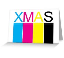 CMYK XMAS CARD Greeting Card