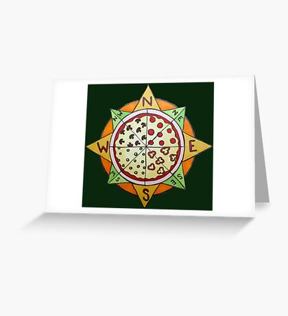 Pizza Compass Greeting Card