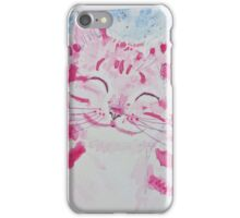 Happy  Smiling  pink  kitty  cat iPhone Case/Skin