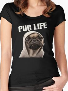 Pug Life Funny Women's Fitted Scoop T-Shirt