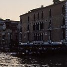 Evening on Grand Canal Venice Italy 19840731 0080  by Fred Mitchell