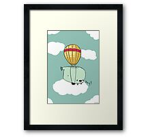 Whale want to fly! Framed Print