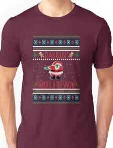 Dabbin Through The Snow Santa Ugly Christmas Sweater T-Shirt  Unisex T-Shirt