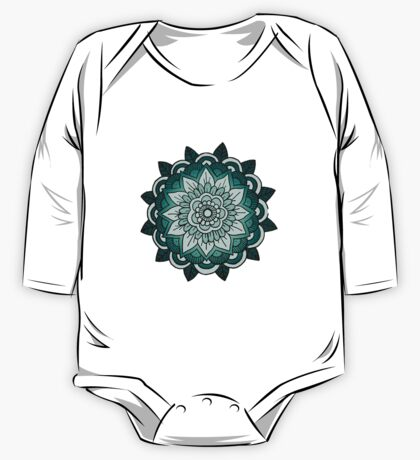 Mandala: Teal/Blue  One Piece - Long Sleeve