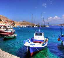 Chalki Fishing Boats by Tom Gomez