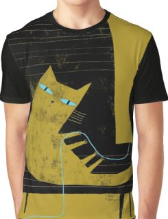 YELLOW CAT BLACK CHAIR Graphic T-Shirt