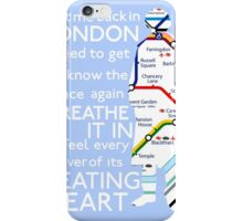 London Underground Map Sherlock iPhone Case/Skin