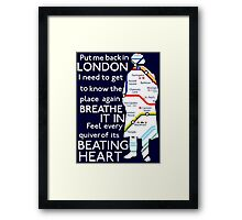 London Underground Map Sherlock Framed Print