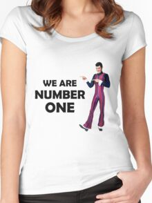 We Are Number One Women's Fitted Scoop T-Shirt