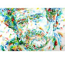 TERENCE MCKENNA - watercolor portrait.1 Photographic Print