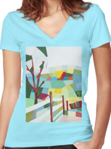 Fancy Fence Women's Fitted V-Neck T-Shirt
