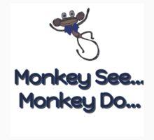 Monkey See... Monkey Do... (Blue) by AngiiiOskiii78