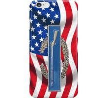 Combat Infantry Badge on American Flag - iPhone Case iPhone Case/Skin