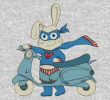 Be-All-You-Can-Be Bunny Rides in to Save the Day One Piece - Short Sleeve