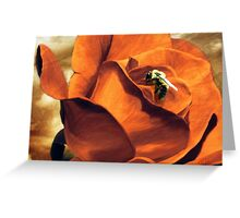 Enthralls the Bee  Greeting Card