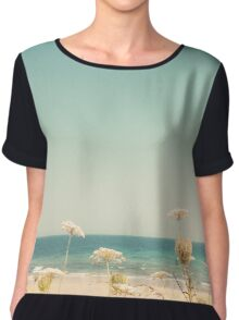 Water and Lace Chiffon Top