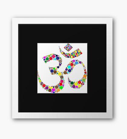OM Symbol - Indian Hindu Aum  Framed Print