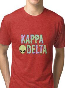kappa trippy alien delta Tri-blend T-Shirt