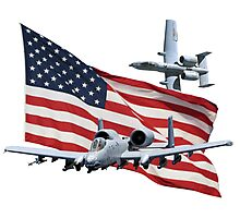 US Flag Aith A10's Photographic Print