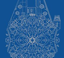 Millennium Falcon kaleidoscope by tunderstrom