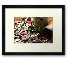Once upon a time, there were Buttons! Framed Print