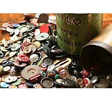 Once upon a time, there were Buttons! Photographic Print