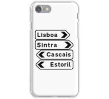 Lisboa-Sintra-Cascais-Estoril, Road Signs, Portugal iPhone Case/Skin