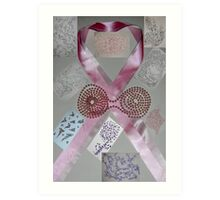 Pink Ribbons & Beads and the Art of Breast Cancer Treatment KazM Art Print