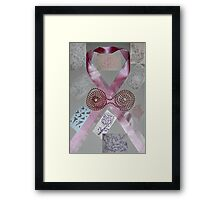 Pink Ribbons & Beads and the Art of Breast Cancer Treatment KazM Framed Print